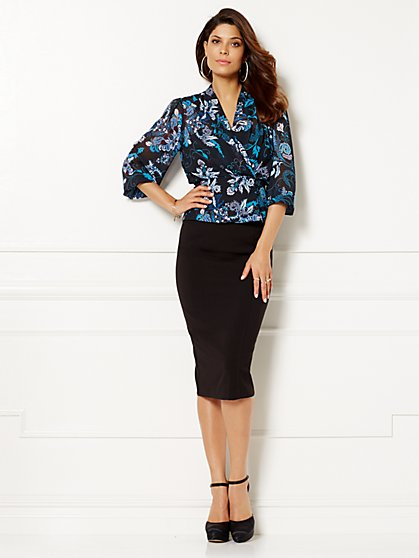Eva Mendes Collection - Charlotte Blouse - Print  - New York & Company