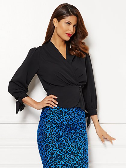 Eva Mendes Collection - Charlotte Blouse - Solid  - New York & Company
