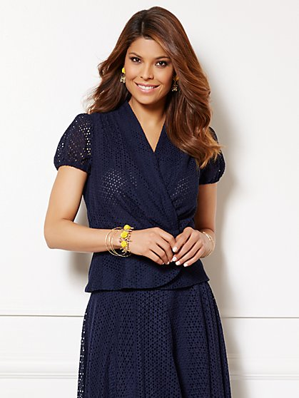 Eva Mendes Collection - Charlotte Eyelet Blouse - New York & Company