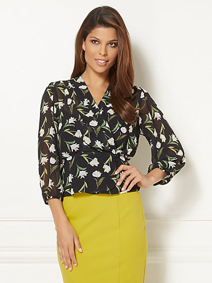 Eva Mendes Collection - Charlotte Ruffle-Sleeve Blouse - New York & Company