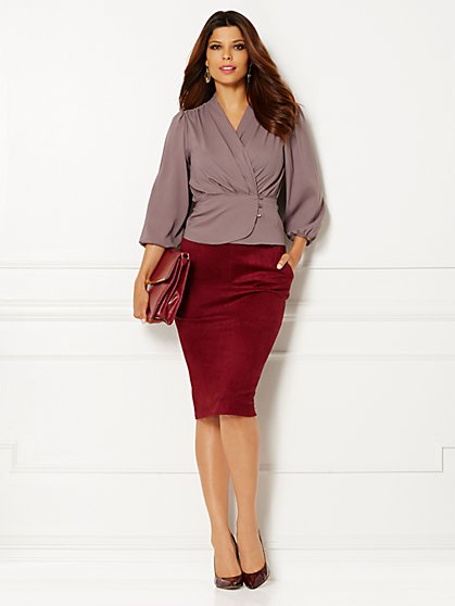 Eva Mendes Collection - Charlotte Wrap Blouse - New York & Company