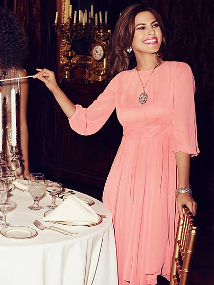 Eva Mendes Collection - Chiffon Pleat Dress - New York & Company