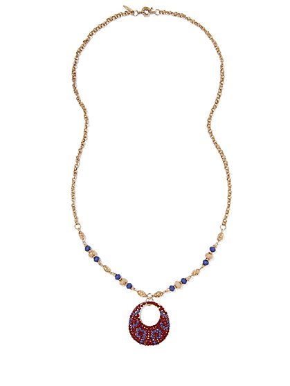 Eva Mendes Collection - Circular Pendant Necklace  - New York & Company