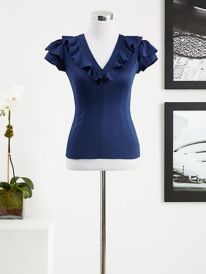 Eva Mendes Collection - Claire Ruffle Blouse