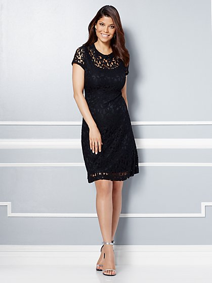 Eva Mendes Collection - Clara Lace Flare Dress  - New York & Company