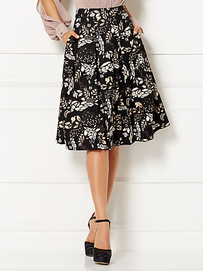Eva Mendes Collection - Clare Full Jacquard Skirt  - New York & Company