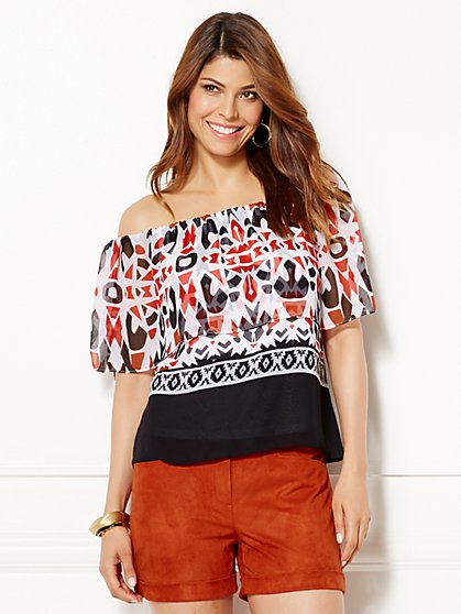 Eva Mendes Collection - Cleo Off-The-Shoulder Blouse  - New York & Company