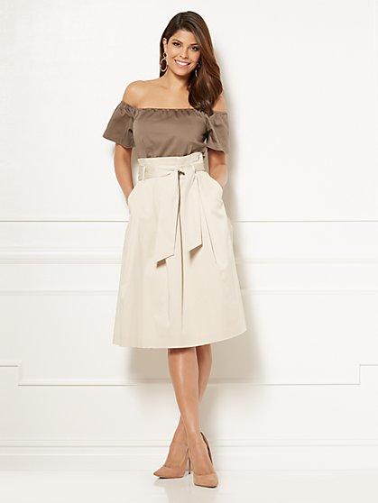 Eva Mendes Collection - Cloe Paper Bag-Waist Dress - New York & Company