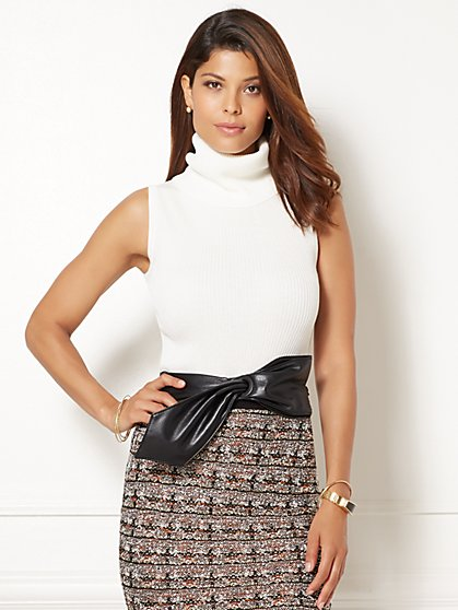 Eva Mendes Collection - Convertible Turtleneck Sweater Shell  - New York & Company