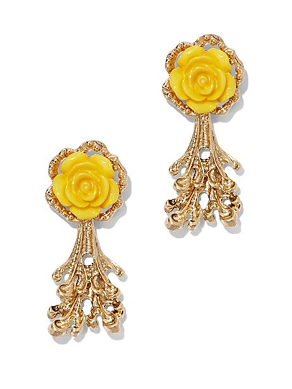 Eva Mendes Collection - Coral & Rosette Earring  - New York & Company