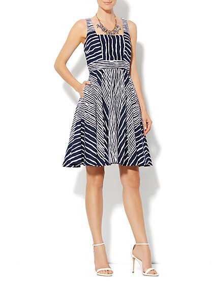 Eva Mendes Collection - Courtney Striped Dress - New York & Company