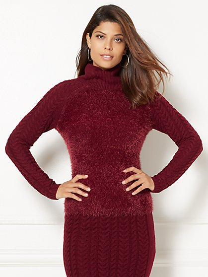 Eva Mendes Collection - Cowl-Neck Sweater - New York & Company