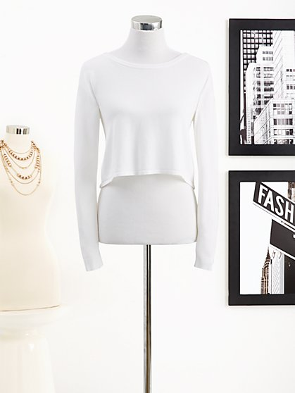 Eva Mendes Collection - Crop Sweater - New York & Company