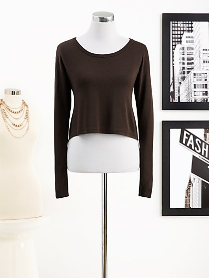 Eva Mendes Collection - Crop Sweater