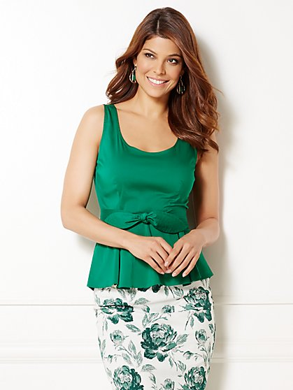 Eva Mendes Collection - Daisy Peplum Top - New York & Company
