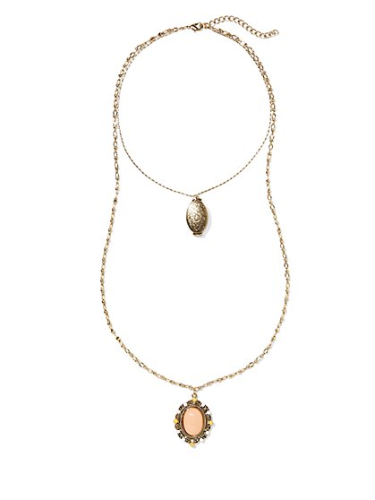 Eva Mendes Collection - Double-Strand Locket  Necklace  - New York & Company