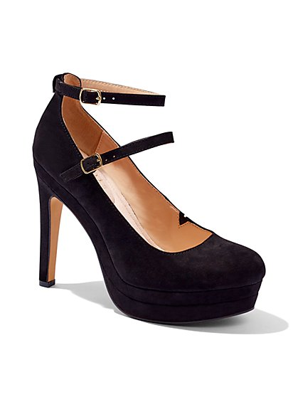 Eva Mendes Collection - Double-Strap Platform Pump  - New York & Company