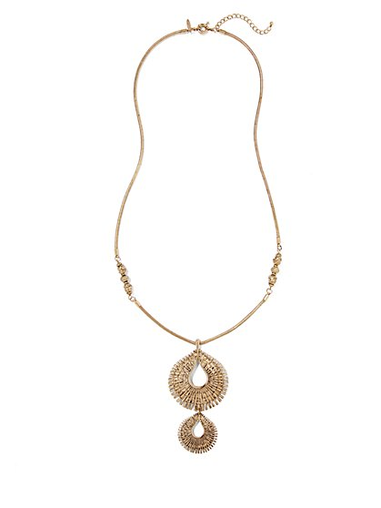Eva Mendes Collection - Double-Teardrop Pendant Necklace - New York & Company