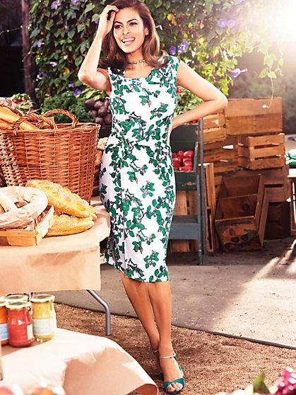 Eva Mendes Collection - Drape Dress - Ivy Print - New York & Company