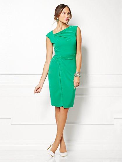 Eva Mendes Collection - Drape Dress - Solid  - New York & Company