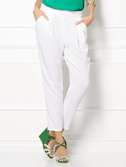 Eva Mendes Collection - Dylan Jogger Pant - Solid - New York & Company