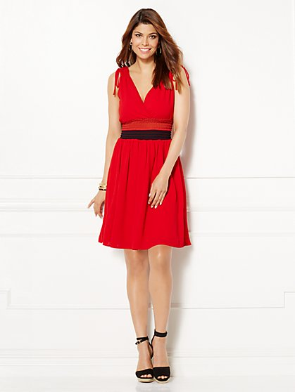 Eva Mendes Collection - Eden Smocked Dress  - New York & Company