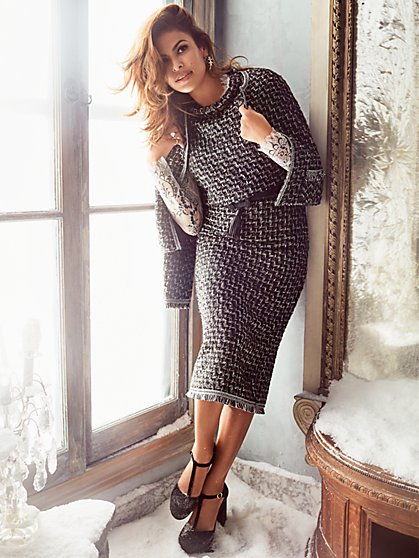 Eva Mendes Collection - Elettra Tweed Top - New York & Company