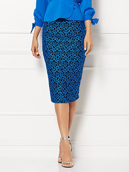 Eva Mendes Collection - Elise Floral Lace Skirt - New York & Company