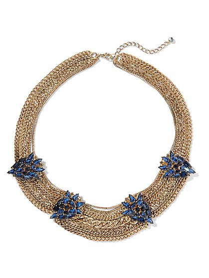 Eva Mendes Collection - Embellished Chain Necklace  - New York & Company
