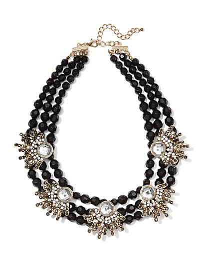 Eva Mendes Collection - Embellished Jet Necklace - New York & Company