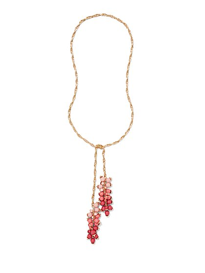 Eva Mendes Collection - Embellished Lariat Necklace  - New York & Company