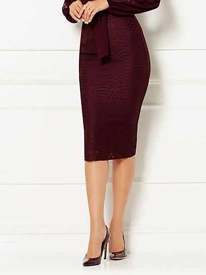 Eva Mendes Collection - Emma Eyelet Pencil Skirt  - New York & Company