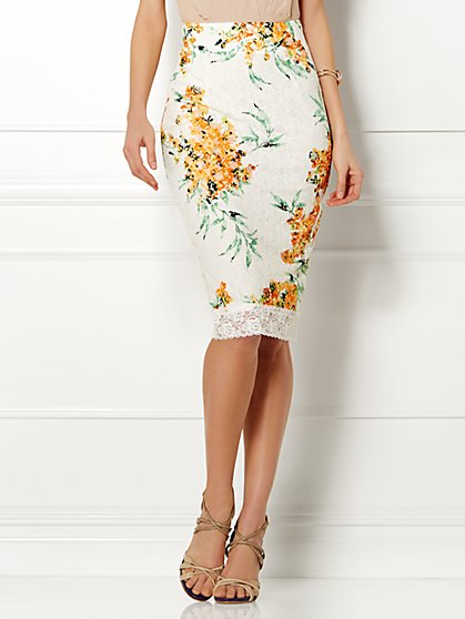 Eva Mendes Collection - Emma High-Waist Lace Skirt  - New York & Company