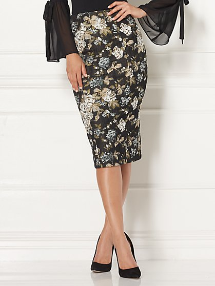 Eva Mendes Collection - Emma Jacquard Pencil Skirt - New York & Company