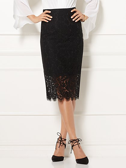 Eva Mendes Collection - Emma Lace Pencil Skirt - New York & Company