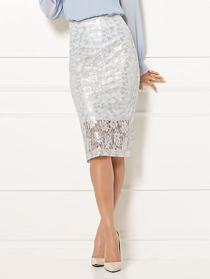 Eva Mendes Collection - Emma Sequin Pencil Skirt - New York & Company