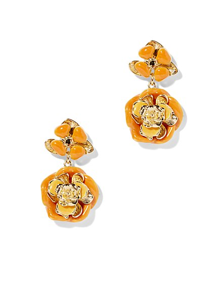Eva Mendes Collection - Enamel Floral Earring  - New York & Company