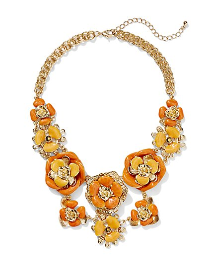 Eva Mendes Collection - Enamel Floral Necklace  - New York & Company