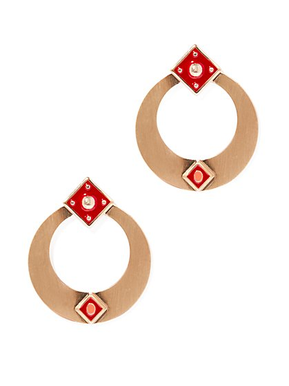 Eva Mendes Collection - Enamel Hoop Earring  - New York & Company