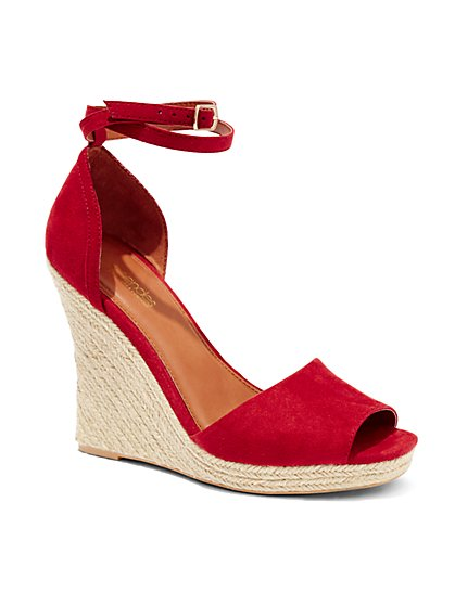 Eva Mendes Collection -  Espadrille Wedge Sandal  - New York & Company