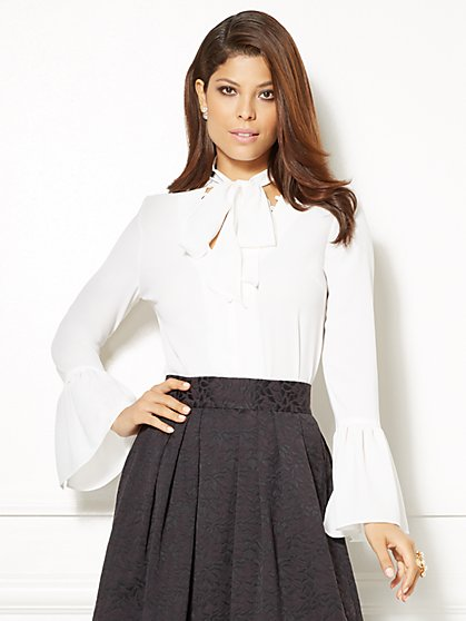 Eva Mendes Collection - Evie Bell-Sleeve Top  - New York & Company