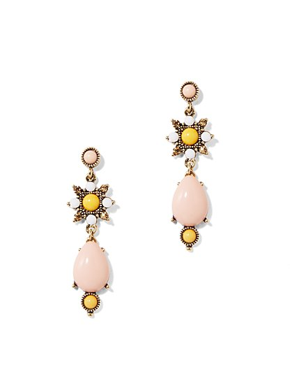 Eva Mendes Collection - Faux-Stone Drop Earring - New York & Company