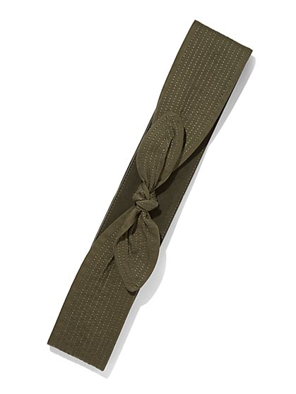 Eva Mendes Collection - Faux-Suede Obi Belt  - New York & Company