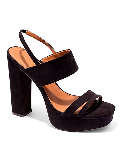 Eva Mendes Collection - Faux-Suede Platform Sandal  - New York & Company