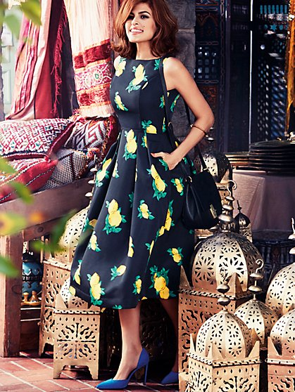 Eva Mendes Collection - Felicity Dress - Lemon Print - New York & Company