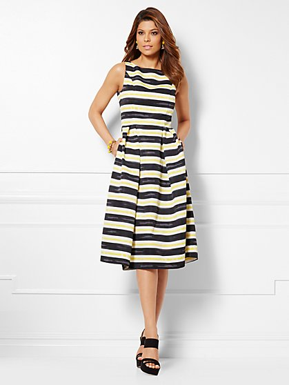 Eva Mendes Collection - Felicity Dress - Stripe - New York & Company