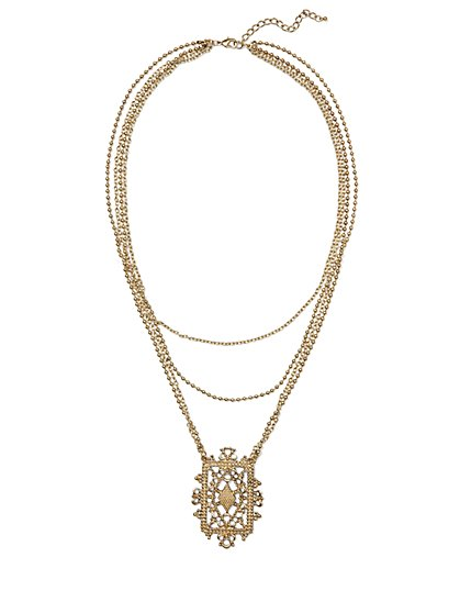 Eva Mendes Collection - Filigree Pendant Necklace - New York & Company