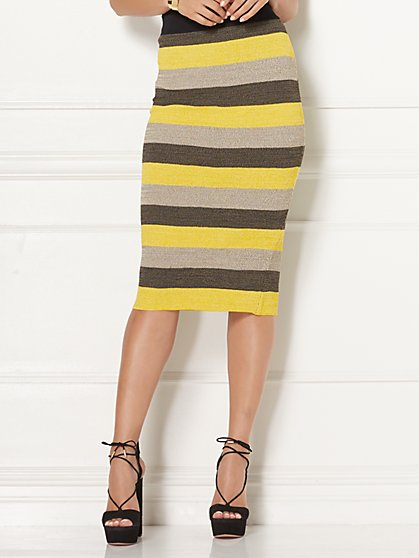 Eva Mendes Collection - Filipa Stripe Sweater Pencil Skirt - New York & Company