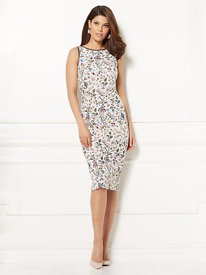 Eva Mendes Collection - Fleur V-Back Sheath Dress - Tall - New York & Company