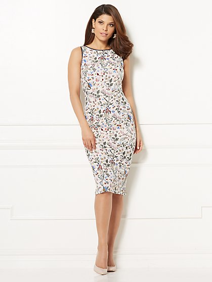 Eva Mendes Collection - Fleur V-Back Sheath Dress - New York & Company